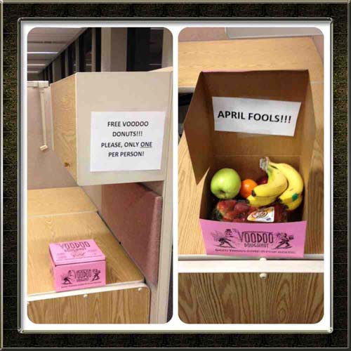 awesome pranks fruit donut