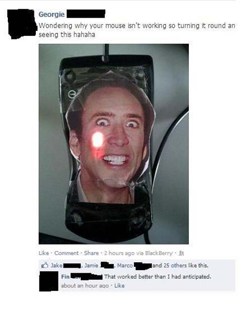 awesome pranks nic cage mouse