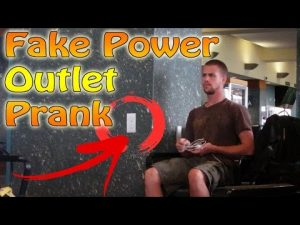 Fake Stick On Electric Plug Prank